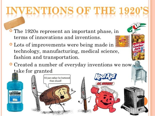 new inventions developed in the 1920s Inventions (in the 1920s)  radios  the first radios ran on battery, and played  through headphones  radios were invented in america during this time period.
