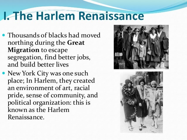 an analysis of the harlem renaissance in the united states of america African american literature in the united states of america was established by the harlem renaissance evidence of this impact is witnessed by the inspiration from alain locke and langston hughes in the modern society and culture.