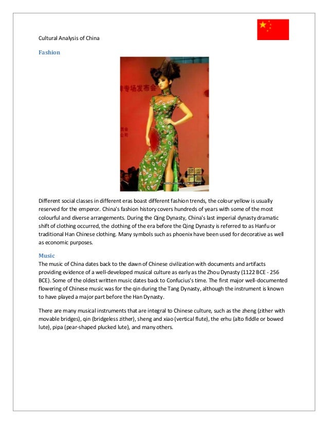 china a cultural analysis Cultural analysis – china cultural analysis – china the first stage in the marketing planning process is the country analysis the information account | my work.