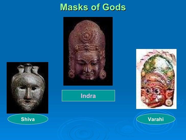 Masks of Gods Shiva Indra Varahi