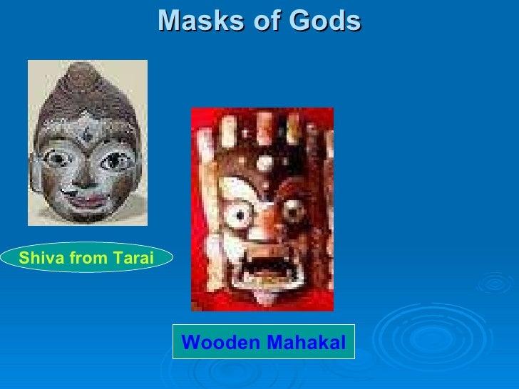 Masks of Gods Shiva from Tarai Wooden Mahakal