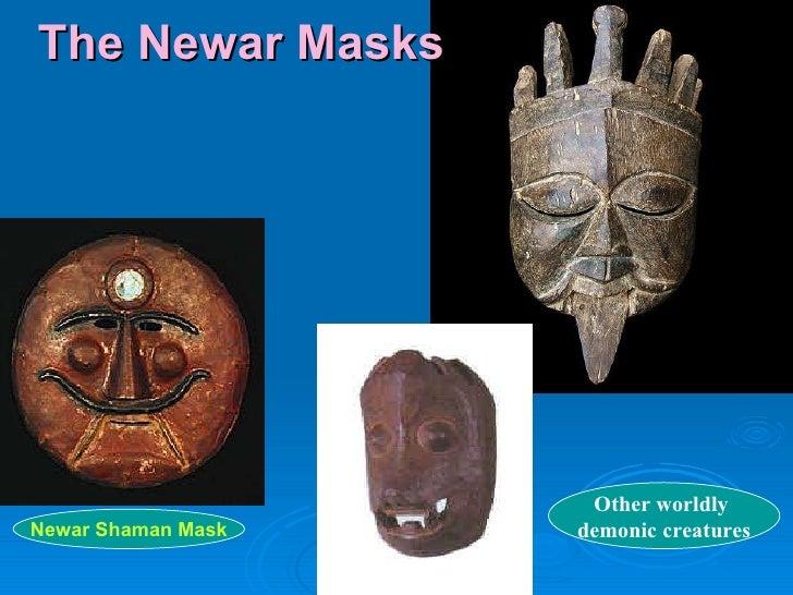 The Newar Masks Newar Shaman Mask Other worldly  demonic creatures