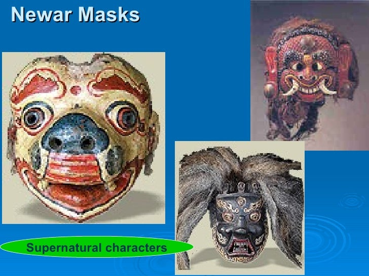 Newar Masks Supernatural characters