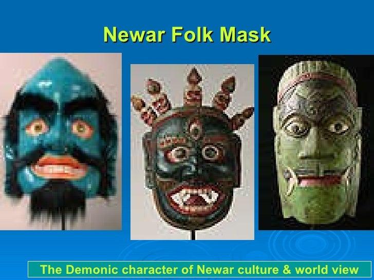 Newar Folk Mask The Demonic character of Newar culture & world view