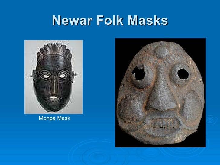 Newar Folk Masks Monpa Mask