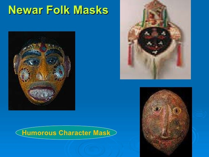 Newar Folk Masks Humorous Character Mask