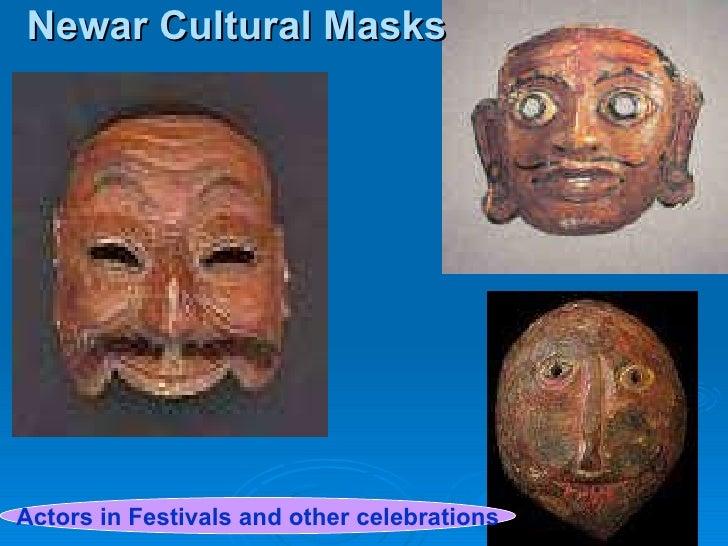 Newar Cultural Masks Actors in Festivals and other celebrations