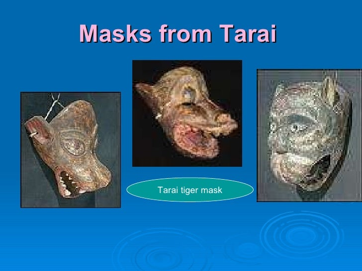 Masks from Tarai  Tarai tiger mask