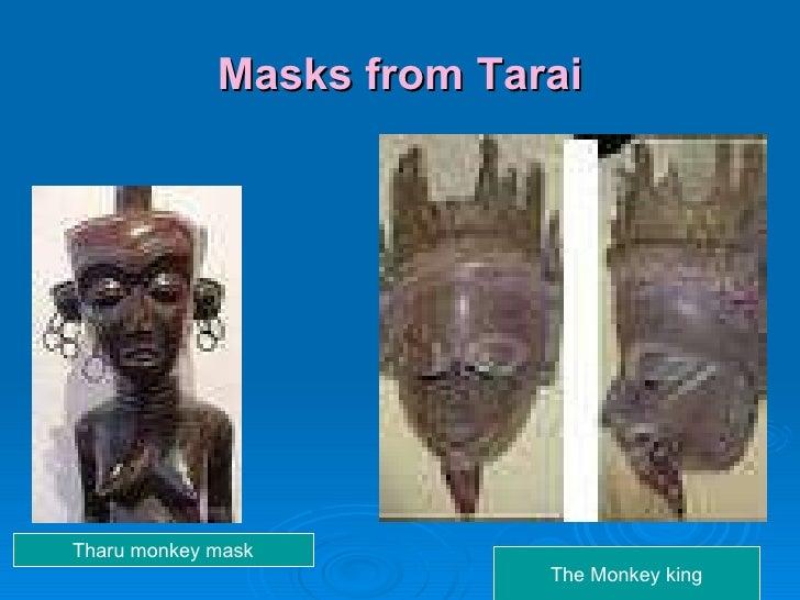 Masks from Tarai Tharu monkey mask The Monkey king