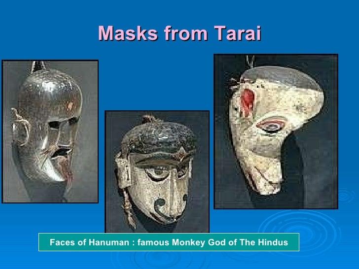 Masks from Tarai Faces of Hanuman : famous Monkey God of The Hindus