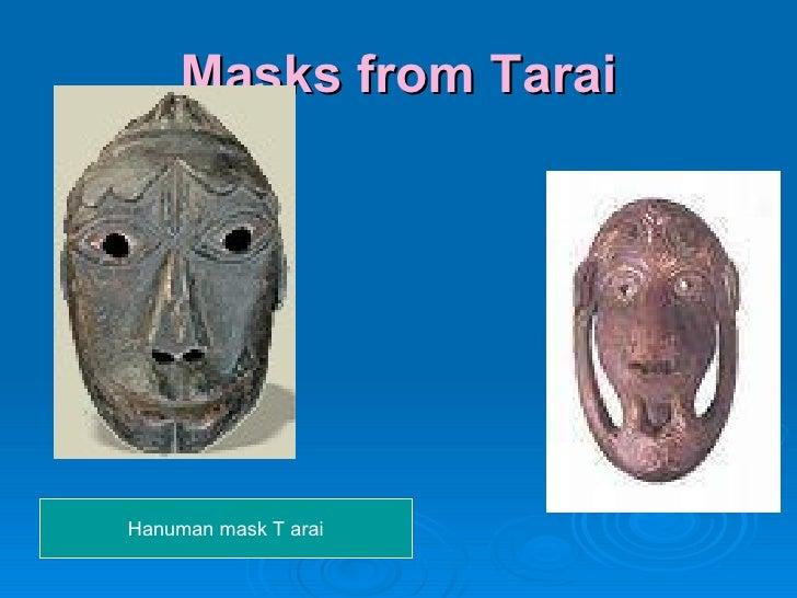 Masks from Tarai Hanuman mask T arai