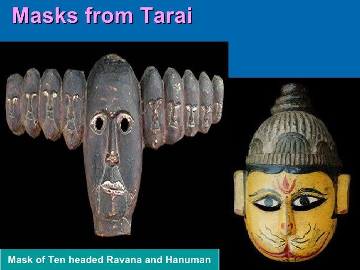 Masks from Tarai Mask of Ten headed Ravana and Hanuman