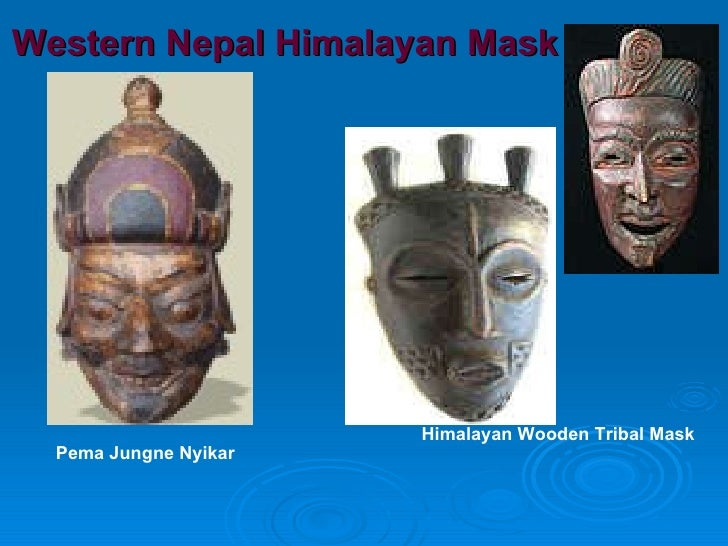 Western Nepal Himalayan Mask Pema Jungne Nyikar Himalayan Wooden Tribal Mask