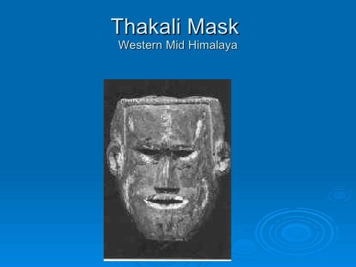Thakali Mask  Western Mid Himalaya