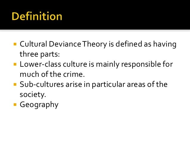 cultural deviance theory definition