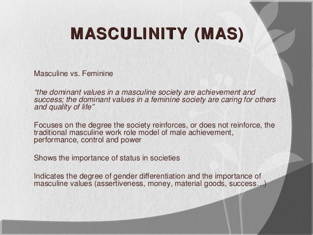 gender roles in society: a look at masculinity and femininity essay Gender roles in society: a look at masculinity and femininity essay by  outlaw1812, college, undergraduate, b+, october 2007 download word file, 4  pages.