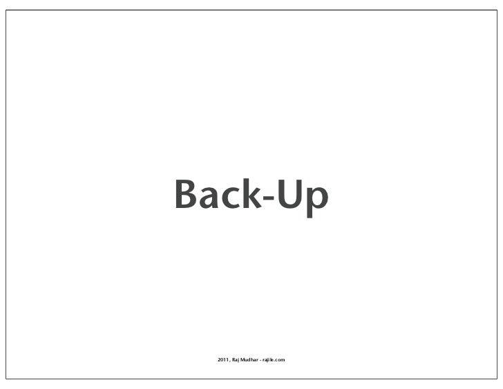 Back-Up 2011, Raj Mudhar - rajile.com