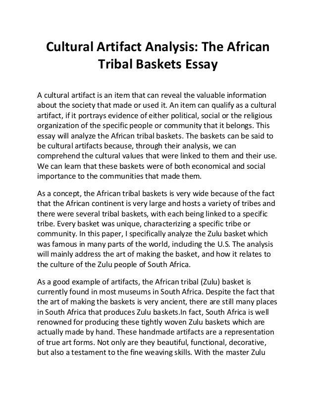 Cultural artifact essay examples