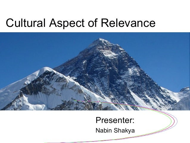 Cultural Aspect of Relevance Presenter: Nabin Shakya