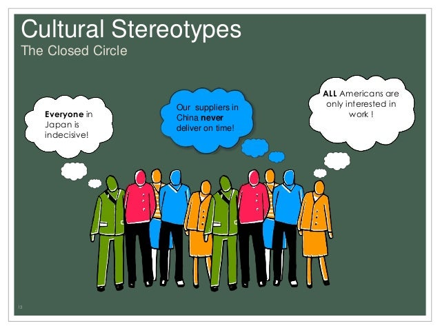 stereotypes of culture A stereotype is a fixed, over generalized belief about a particular group or class of people (cardwell, 1996) stereotypes are mostly created during the culture stress and culture shock stages of culture shock they may help the ego of someone suffering from culture shock, but it will not lead to adaptation to the new culture.