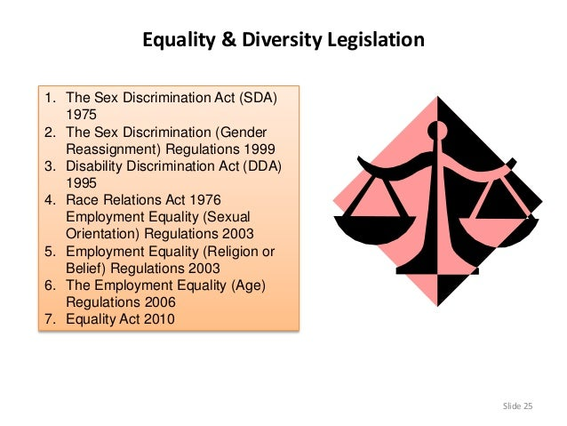 The employment equality sex discrimination