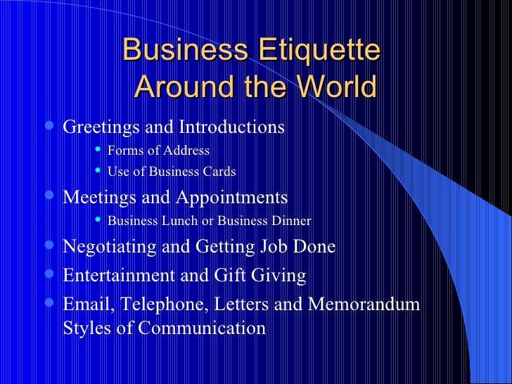 importance of business etiquette pdf