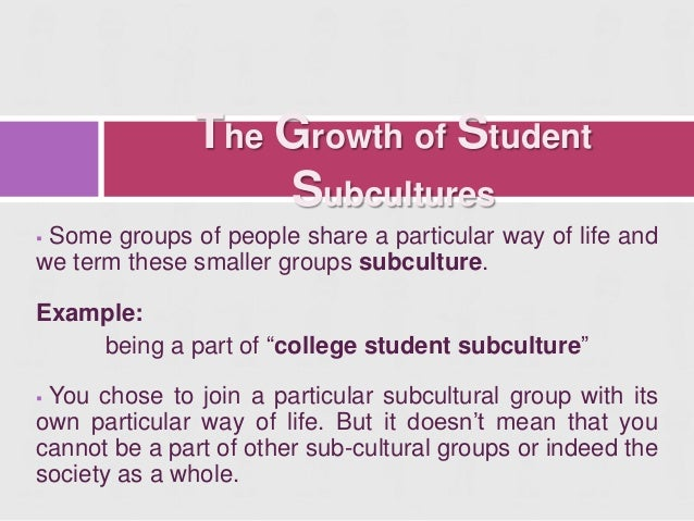 what are example of culture and subculture What are examples of subcultures  anthropology and cultural studies, a subculture is a set of people with a distinct sets of behavior and beliefs that .