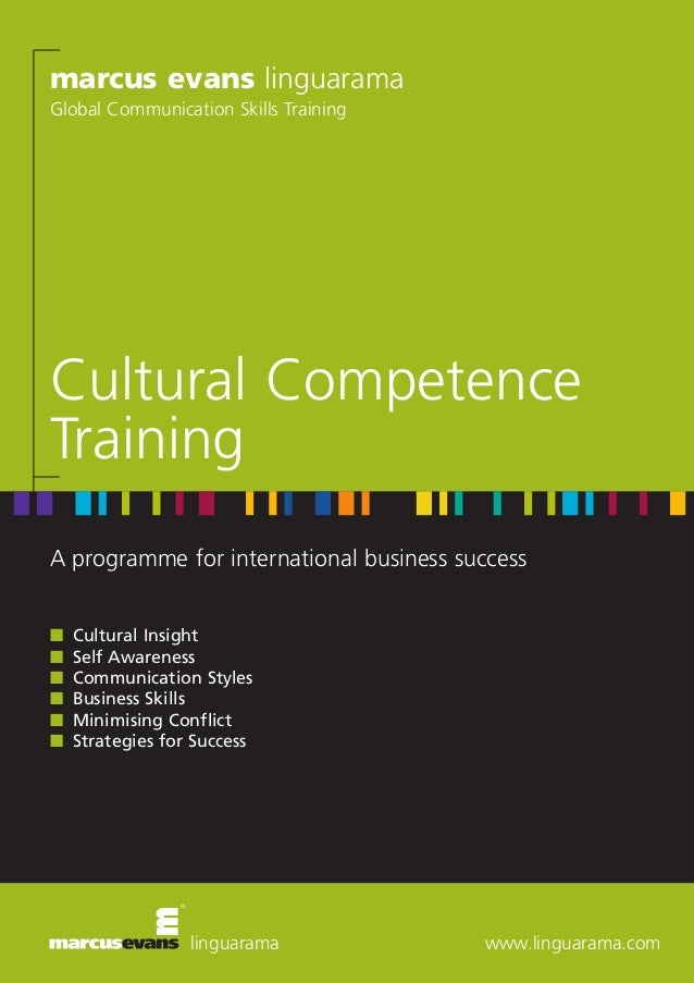 marcus evans linguarama Global Communication Skills Training  Cultural Competence Training A programme for international b...