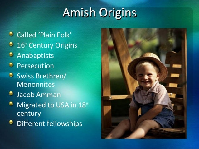 An overview of the amish history and culture