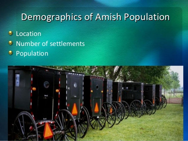 health care in the amish culture Amish & mennonite culture implications for healthcare do not use loud voices same biological disorders across both communities major health  care powell, albrecht.