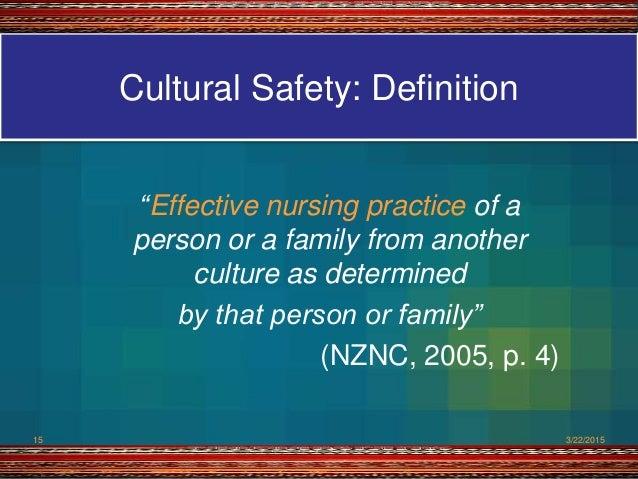 definition of cultural safety in nursing