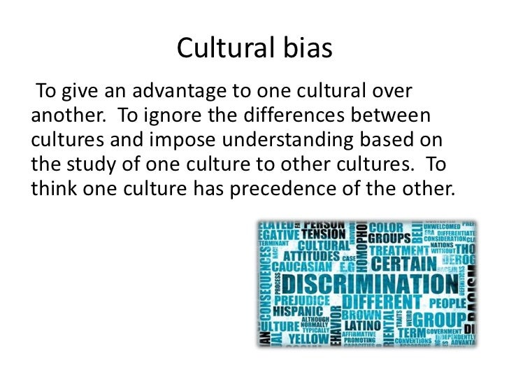 cultural and racial bias in standardized Racial stereotypes essay means a simplified or standardized conception and/or image of a particular group racial and cultural test bias.