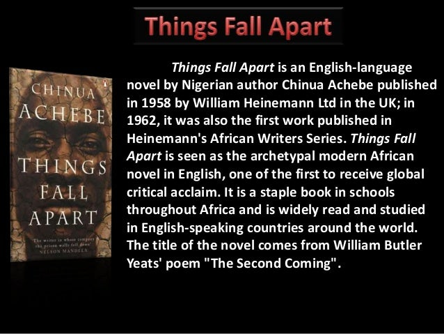things fall apart critical lens In things fall apart, achebe includes stories from igbo culture and tradition, proverbs, and parables what is the significance of achebe's integration of african literary forms with that of western literary forms.