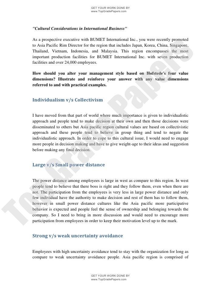 Consideration business writing