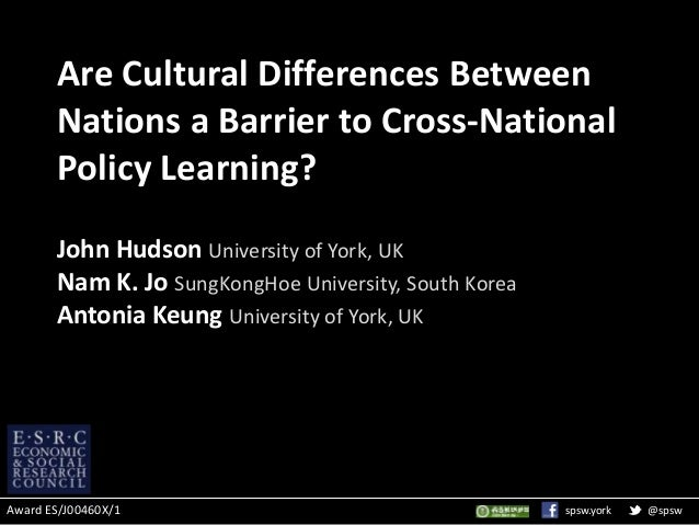 Cross national cultural differences