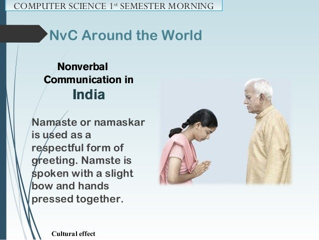 NvC Around the World Nonverbal Communication in the U.S.A Quite Informal way of nonverbal communication - A handshake, a s...