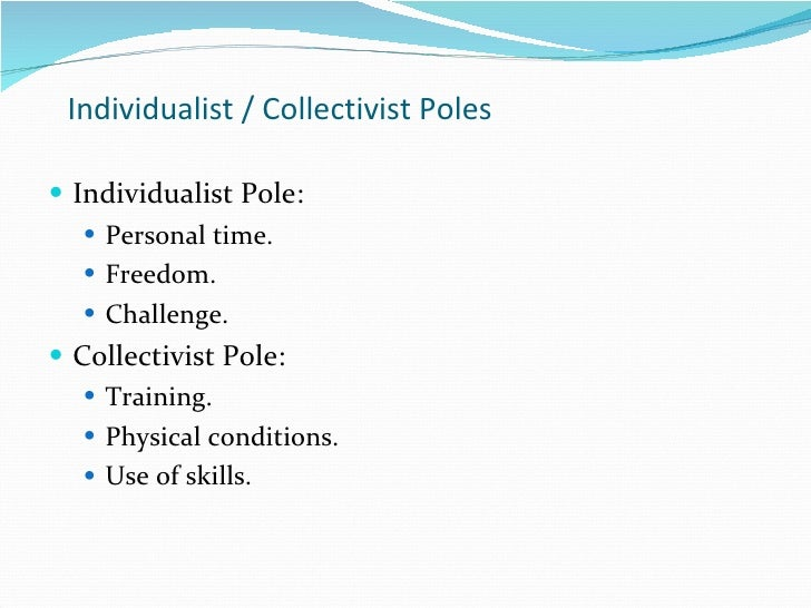 collectivist culture vs individualistic culture Individualism vs collectivism different cultural groups have table 1 comparison of individualist and collectivist values values individualist collectivist.
