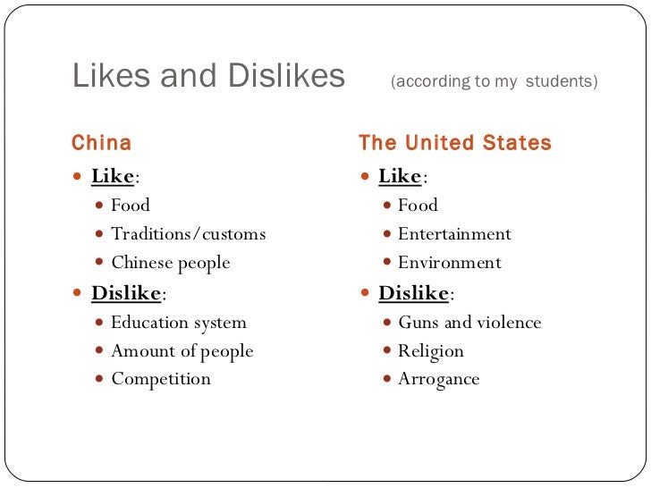 things i like and dislike essay