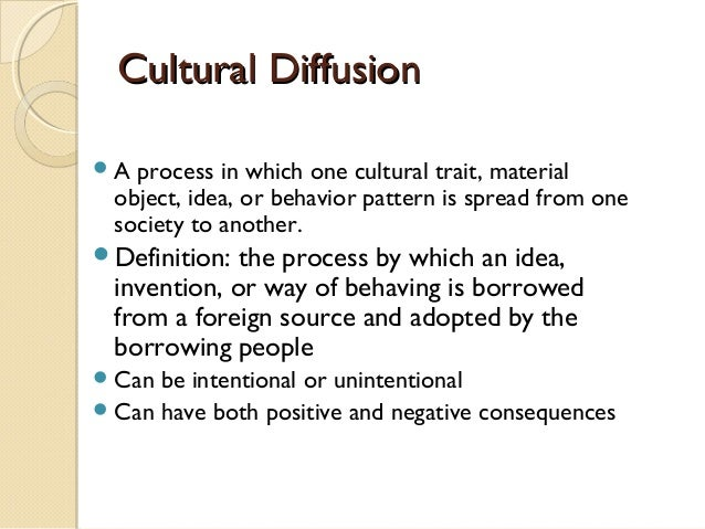 what is a example of cultural diffusion
