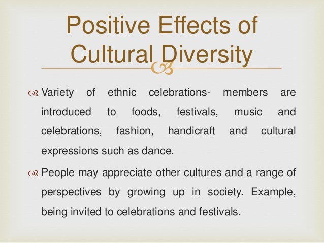 the impact of cultural differences on Patients differ in many ways some of these differences are due to patient illness, personality, socioeconomic class, or education, but the most profound differences may be cultural many health professionals think that if they just treat each patient with respect, they will avert most cultural.