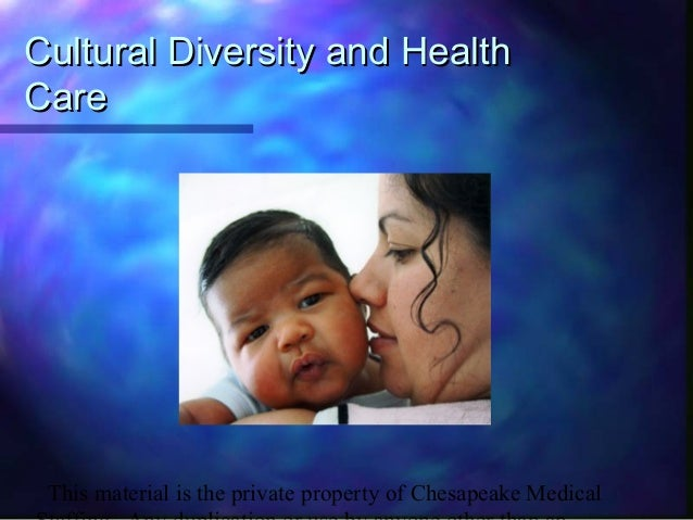 This material is the private property of Chesapeake Medical Cultural Diversity and HealthCultural Diversity and Health Car...