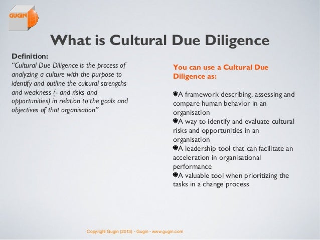 Gugin's Cultural Due Diligence Process