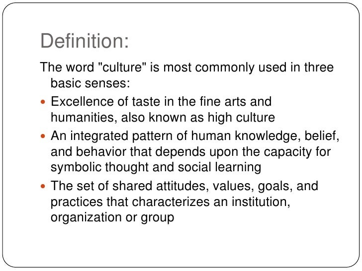 cultural environment definition