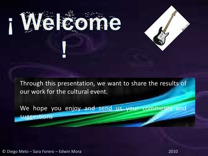 Through this presentation, we want to share the results of         our work for the cultural event.          We hope you e...