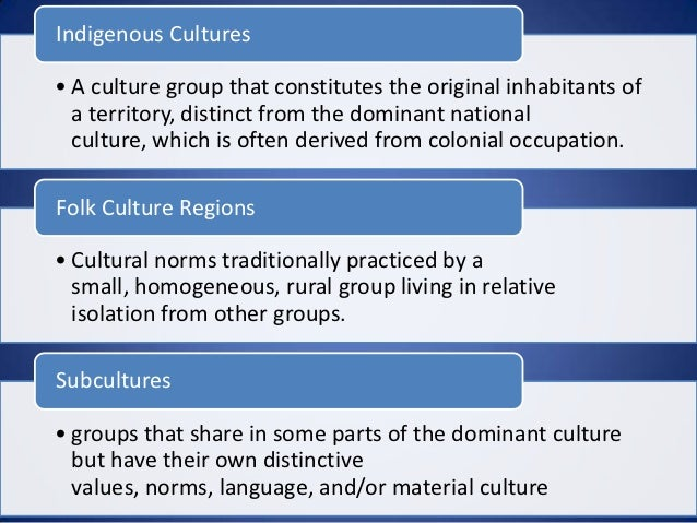 what are some examples of folk culture