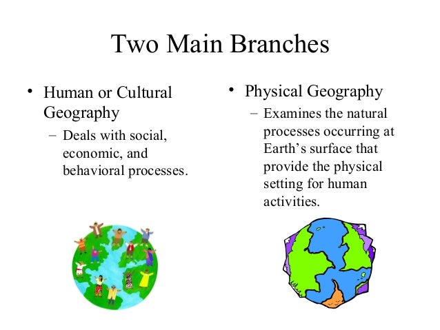 3 branches of geography