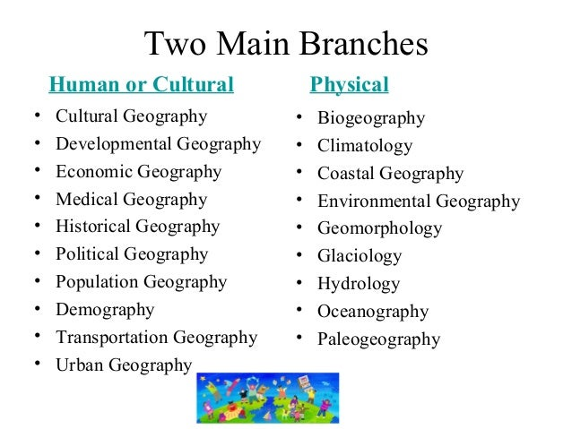 branches of geography Development of modern geographic thought 3 basic geographical approach 4 putting the basis of the two main branches of geography, the physical one by humboldt.