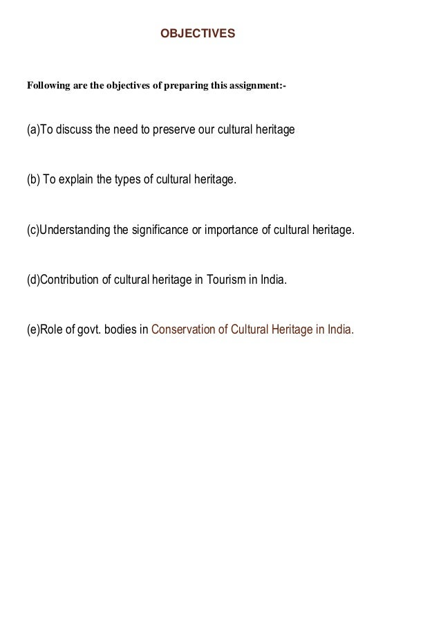 conclusion of cultural heritage of india