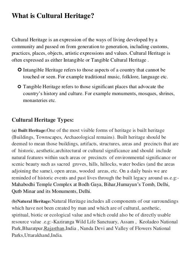 cultural heritage its importance 3 what is cultural heritage