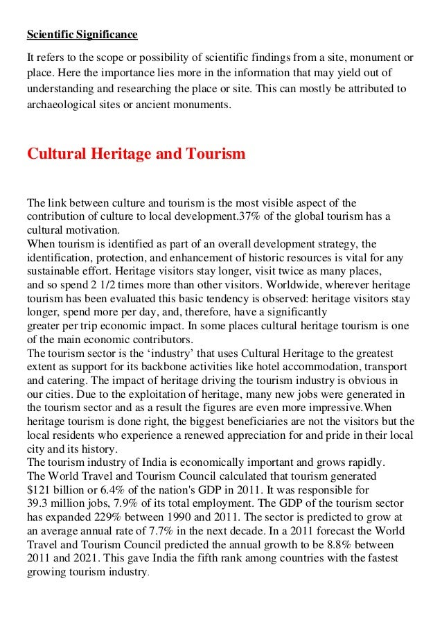 Essay on heritage of india